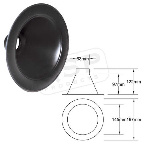 Inlet 63mm Black