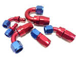 Hose end blue/red